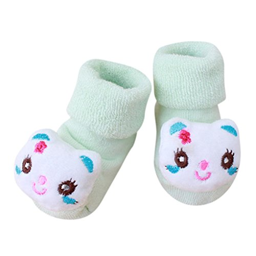 FNKDOR Kuscheltier Babysocken, 0-1 Jahr Baby Baumwolle Elastizität Born Schuhe Söckchen (I)