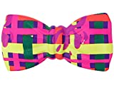 Noeud-papillon en PVC plastique, Convenables pour les adultes et les enfants accéssoire de déguisement ambiance fête anniversaire enfant baptême , :P-77 Multicolor carrés