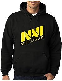 Navi Natus Vincere Esport Hombres Sudaderas con capucha sudadera negro