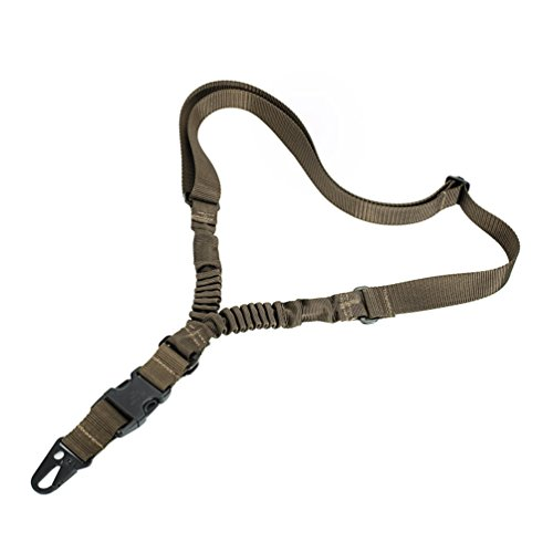 Oleader 1 Point Rifle Sling Multi-Use Gun Strap Adjustable Shoulder Rope with Elastic Cord for Hunting Camping Outdoor Sports