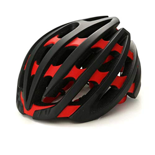 DEHPOOG Fahrrad Fahrradhelm für Erwachsene Ultraleicht MTB Integrierter Mountain Road Fahrradhelm Fahrradhelm A20 Black red M