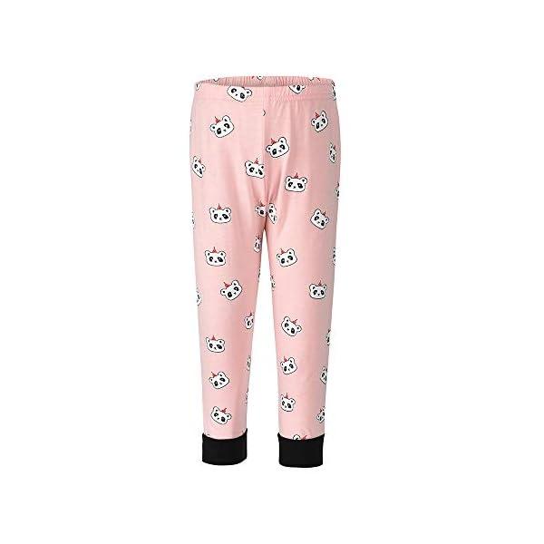 Winzero - Conjunto de pijama de Navidad para niñas, manga larga, algodón, pijama, camisas, pantalones y camisas, ropa de… 3