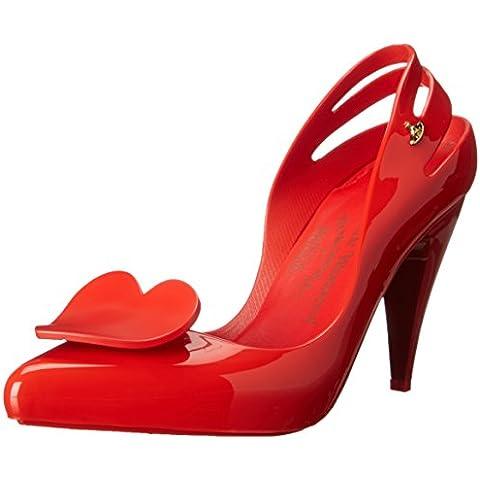 Melissa x Vivienne Westwood dicono le donne s con tacco, motivo: cuore rosso