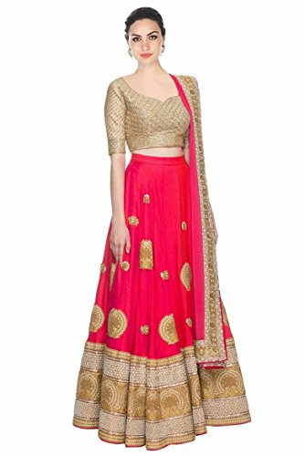 Lehenga Choli (Women\'s Georgette party wear lehenga choli FREE_SIZE)