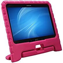 NEWSTYLE a prueba de golpes para niños mango de EVA funda Convertible función atril para Samsung Galaxy Tab 4 10.1 SM-T530 SM-T531 SM-T535(rosa)