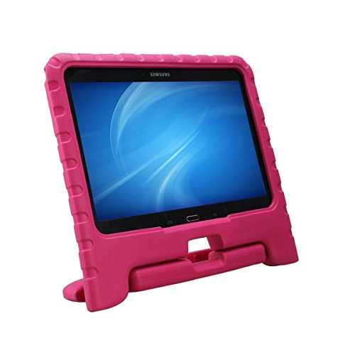 NEWSTYLE Samsung Galaxy Tab 4 10.1 Kinder Hülle Case mit umwandelbarer Handgriff Superleichte Stoßfeste Schutzhülle Tasche Cover für Samsung Tab 4 SM-T530/T531/T535 (10,1 Zoll) - Pink (Galaxy 4 Tab Kind Case)