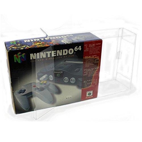 Spiele Bros Xbox Smash 360 Super (1 Klarsicht Schutzhüllen NINTENDO 64 OVP [1 x 0,3MM N64 KONSOLEN OVP] Originalverpackung Passgenau Glasklar)