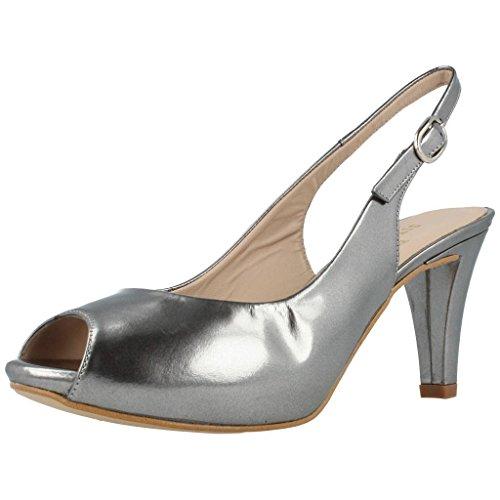 Zapatos TAC�n, Color Plateado Plomo, Marca