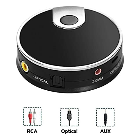 LURICO Bluetooth 4.0 Audio Transmitter für Smart TV XBOX PS4 Bose JBL B&W mit integriertem Toslink Optisches S/PDIF Coaxial AUX Input Connect Dual wireless Headset