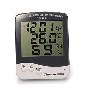 LCD Thermomètre Hygromètre Digital Horloge Testeur Humidité Température