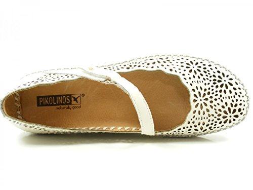Pikolinos 655-1573 Puerto Vallarta Schuhe Damen Ballerinas Sandalen Offwhite