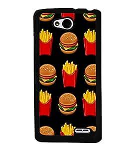 Burger and Fries 2D Hard Polycarbonate Designer Back Case Cover for LG L90
