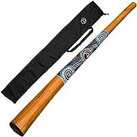 DIDGERIDOO NATURAL PAINT: didgeridoo de teak + bolsa de didgeridoo