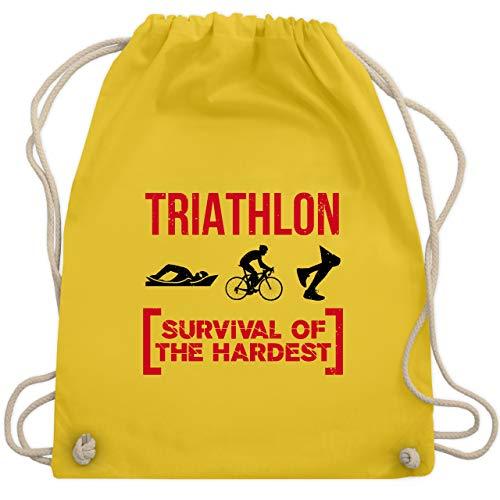 Sonstige Sportarten - Triathlon - Survival of the hardest - Unisize - Gelb - WM110 - Turnbeutel & Gym Bag