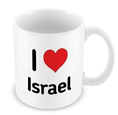 I love ISRAEL Tasse Herz Geschenk Idee Weihnachten Funny Kaffee