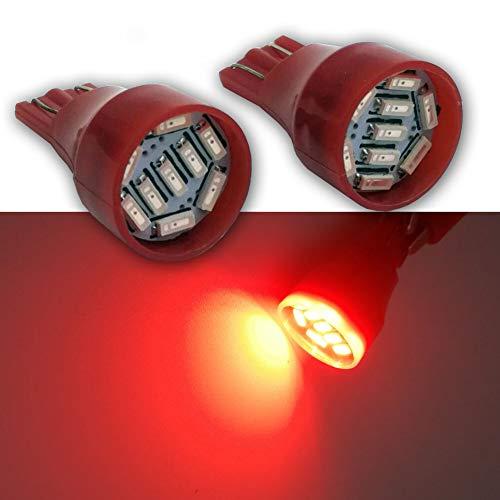 Ruiandsion Lot de 4 ampoules LED T15 912 921 DC 12 V 4014 9SMD Rouge Super Lumineux pour feu arrière arrière