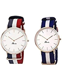 Jay VIRU Enterprise Watches Analoue White Dial Unisex Watches - Combo Of 2 JVE06-0253
