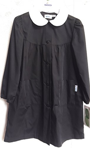 Grembiule siggi scuola nero femmina (5anni-110 cm)
