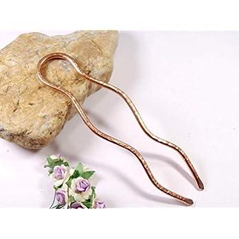 Haargabel aus Kupfer Metall, Haarforke, Haarschmuck, Haar Accessoires