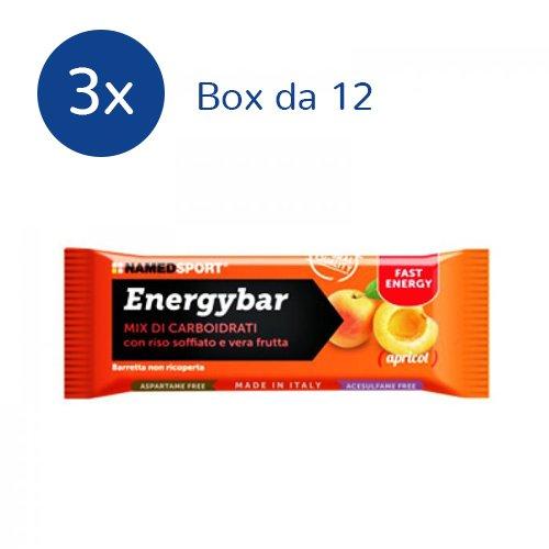 NAMEDSPORT 3x Energybar box da 12 barrette da 35 g. (GUSTO: APRICOT)
