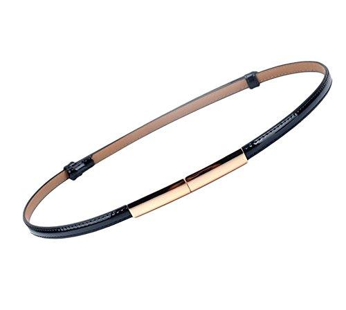 Oyccen Moda Cintura Pelle Sottile con Fibbia Lega Cinturino Vita per Donna