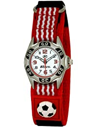 Ravel Children's Red And White Football Strap Watch