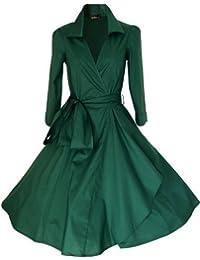 Vestido de cóctel o fiesta, vestido de noche, estilo vintage de la década de