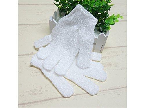 Schulbriefpapier Probe Doppelseitige Peeling Handschuhe Körper Scrubbing Handschuh Bad Scrubs für Dusche (weiß) Briefpapier-Werkzeug
