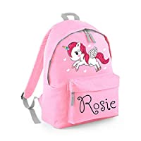 Personalised Backpack, School Bag, Rucksack, Any Custom Name with Variety of Designs for Boys and Girls, Unicorn, Back to School - Free Postage
