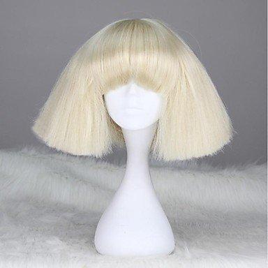 OOFAY JF-Lady Gaga Stil Capless Mode kurze gerade synthetische Perücke (Perücken Gaga Lady)