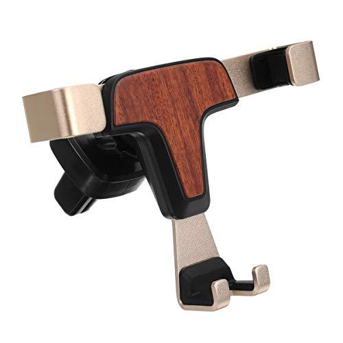 JenNiFer Holz Gravity Auto Lock Auto Air Vent Telefon Halter Halterung Ständer Für iPhone/Samsung - Schwarz -
