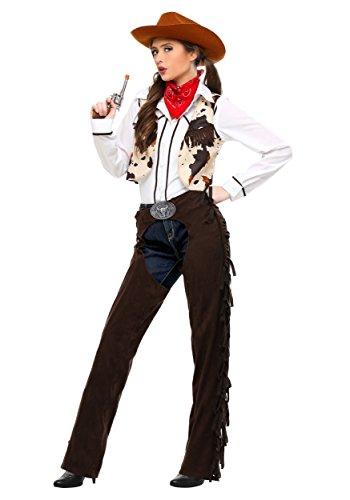 Adult Cowgirl Chaps Plus Size Fancy dress costume (Cowgirl Plus Size Kostüm)