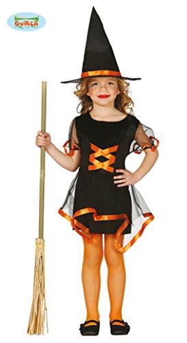 Hexen Kleid für Mädchen orange Gr. 98/104, Größe:98/104 (Traum Mädchen Hexe Kostüm)