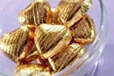 50 Gold Chocolate Foil Heart Dragees Wedding Favours