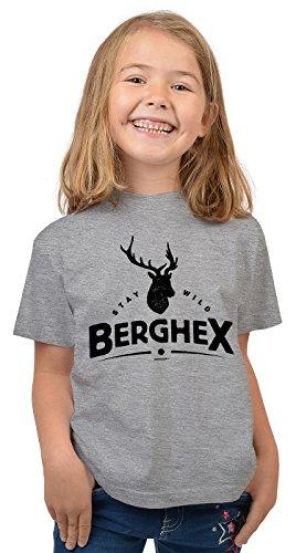 Bergesteiger Sprüche Kinder T-Shirt Wander Shirt : Stay wild Berghex - Kindershirt Klettern Berge T-Shirt Gr: L = 146-152 -
