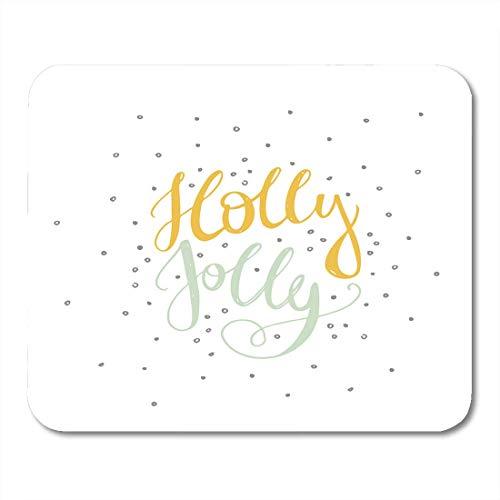 Luancrop Mauspads Word Holly Jolly Unique Perfekt für Flyer und Weihnachten Weihnachtsfreude Mousepad für Laptop, Desktop-Computer Zubehör Mini Office Supplies Mauspads -