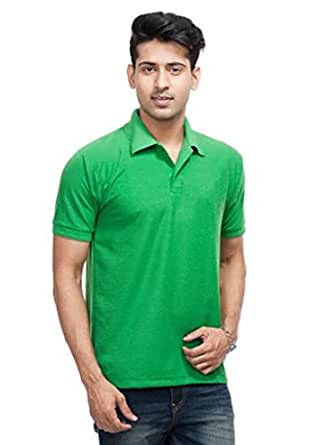 Larwa Solid Men's Polo Neck Half Sleeve T Shirt