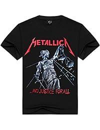 LOVEYF Camiseta con Estampado 3D de Moda Jersey Deportivo, Metal Metallica Metal Core Orchestra Camiseta