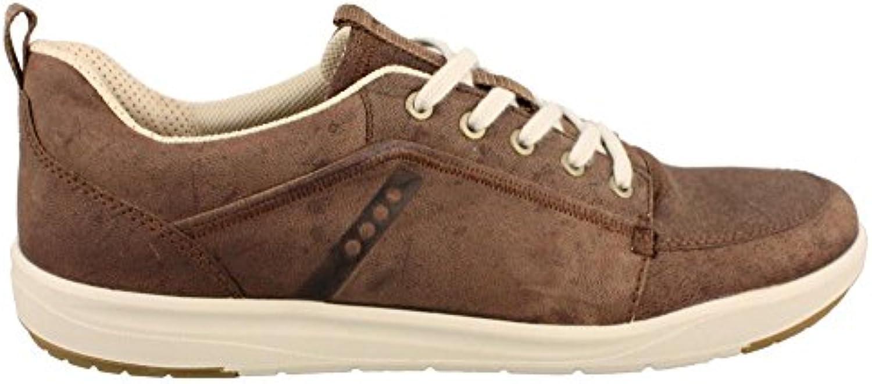 Ecco - Botas de piel para hombre Marrón Marrón / marrón claro
