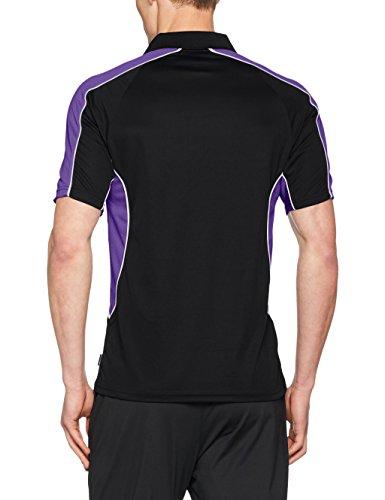 KUSTOM KIT Herren Poloshirt Black (Black / Purple)