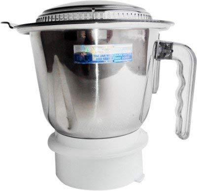 Sujata Motor Steel Grinder Jar (Large, White)