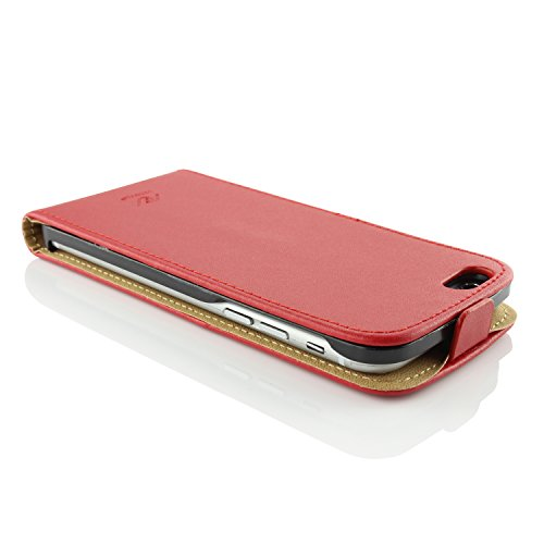Apple iPhone 6 / 6s Handyhülle von original UrCover® in der Flip Edition Schutzhülle Edel Case Cover Etui Grün Rot