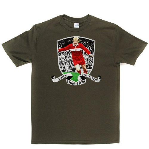 Middlesbrough John Hickton Football Footy Tee T-shirt Militärgrün