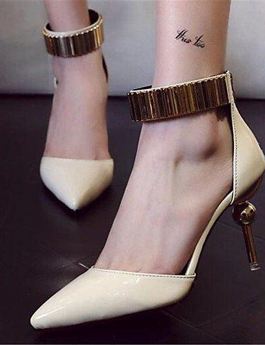 WSS 2016 Chaussures Femme-Habillé / Décontracté-Noir / Rose / Beige-Talon Aiguille-Bout Pointu-Talons-Similicuir beige-us7.5 / eu38 / uk5.5 / cn38