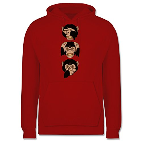 Statement Shirts - Drei Affen - Sanzaru - Männer Premium Kapuzenpullover / Hoodie Rot