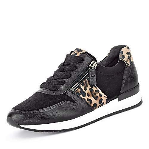 Gabor Shoes Damen Jollys Sneaker, Schwarz/Natur 20, 38 EU
