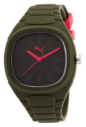 PUMA - PU102881008 - Montre Mixte - Quartz Analogique - Bracelet Silicone Vert