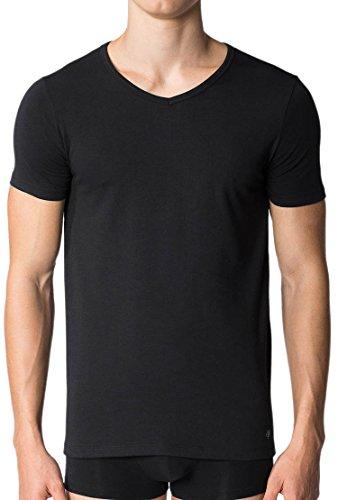 Marc O'Polo Body & Beach Herren Schlafanzugoberteil O´Polo Shirt V-Neck (Dopa), 2er Pack Weiß