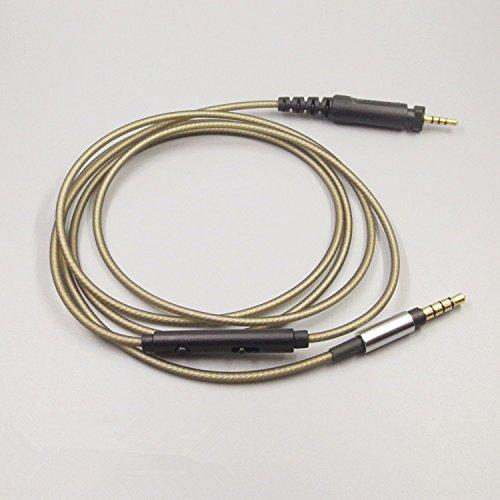 Meijunter cuffie di sostituzione cavo di aggiornamento corda filo Headphones Upgrade Remote Contorl Cable Cord Wire per Philips SHP8900 SHP9000 Headphones