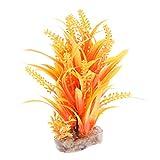 Homyl Künstliche Pflanze Kunststoffpflanzen Aquarium Terrarium Dekoration, Orange